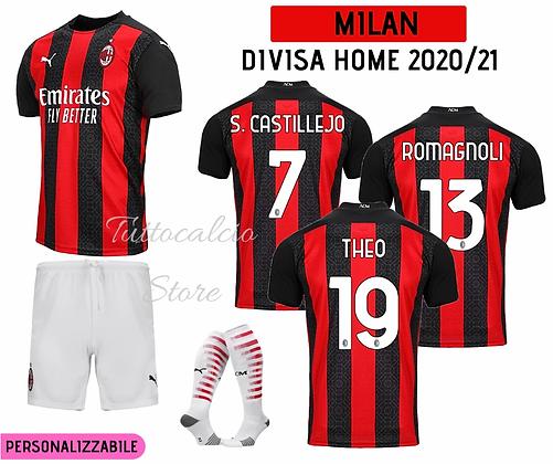 Divisa Home Bambino Milan 20/21