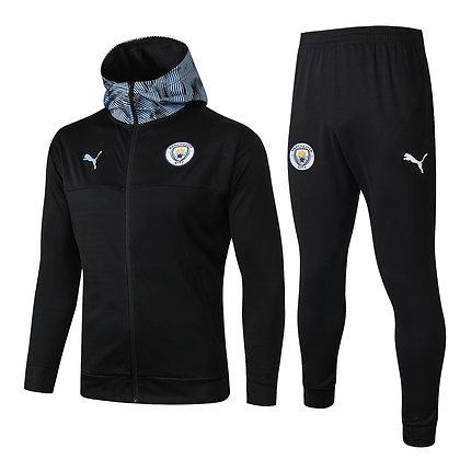 Tuta Rappresentanza con Cappuccio Manchester City - Black