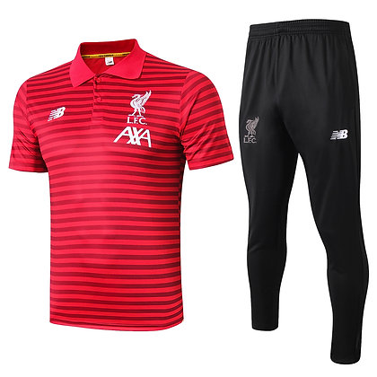 Set Polo Liverpool - Red/Black