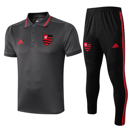 Set Polo Flamengo - Black