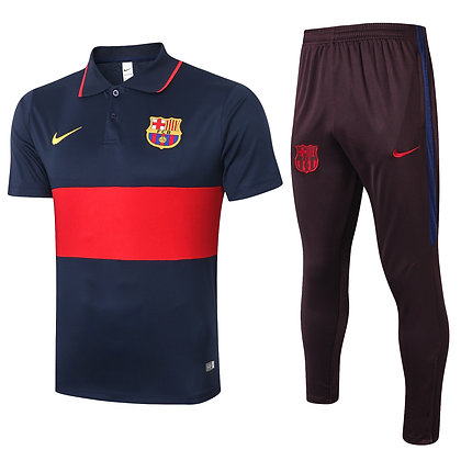 Set Polo Barcellona - Bordeaux/Navy