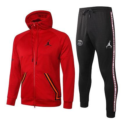 Tuta con Cappuccio Jordan - Red/Black