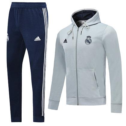 Tuta Rappresentanza con Cappuccio Real Madrid - Navy/Light Gray