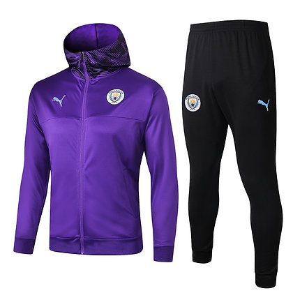 Tuta Rappresentanza con Cappuccio Manchester City - Purple/Black