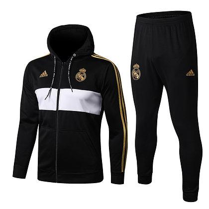 Tuta Rappresentanza con Cappuccio Real Madrid - Black/Gold