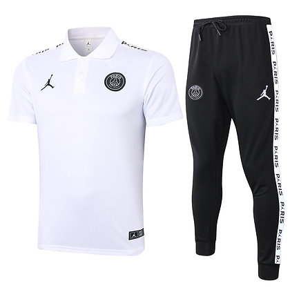 Set Polo PSG Jordan - *Fleece* - White/Black