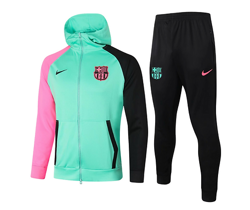 Tuta Fleece Green Barcellona - Black/Pink