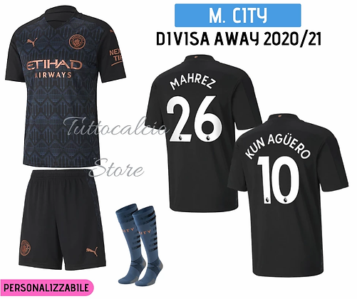 Divisa Away Bambino Manchester City 20/21