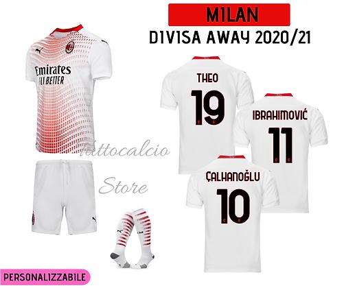 Divisa Away Ac Milan - 20/21