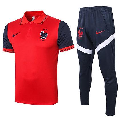 Set Polo Francia - Red/Navy