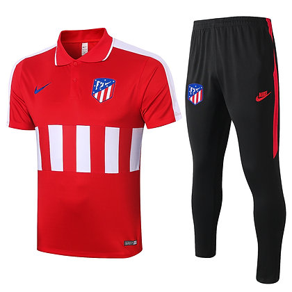 Set Polo Atletico Madrid - Red/Black