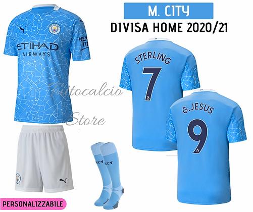 Divisa Home Bambino Manchester City 20/21