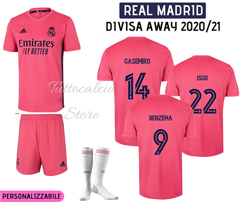 Divisa Away Real Madrid 20/21