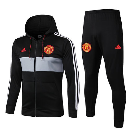 Tuta Rappresentanza con Cappuccio Manchester United - Black