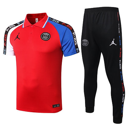 Set Polo PSG Jordan - *Sauvage* - Red/Black
