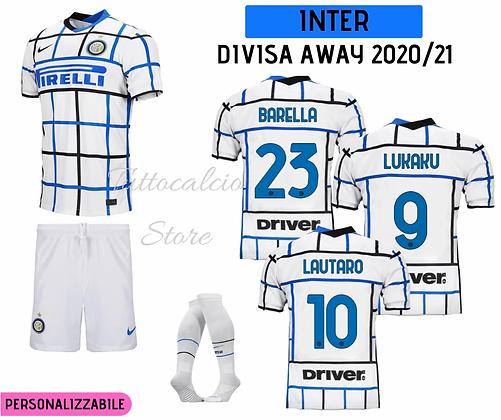Divisa Away Bambino Inter 20/21