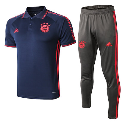 Set Polo Bayern Monaco - Navy/Black