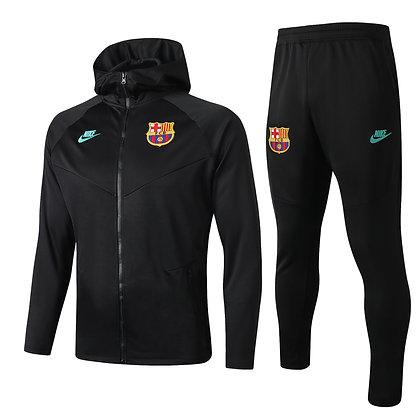 Tuta Cap Version Barcellona - Total Black