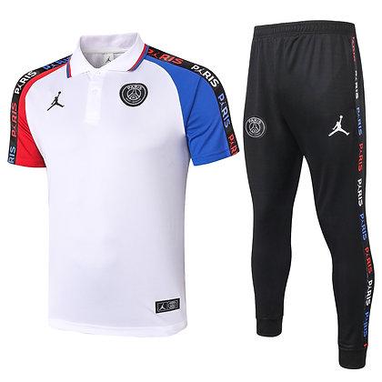 Set Polo PSG Jordan - *Sauvage* - White/Black