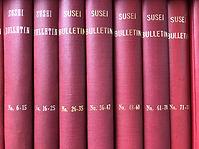 Binded volumes of SUSEI Bulletins, Sophia University