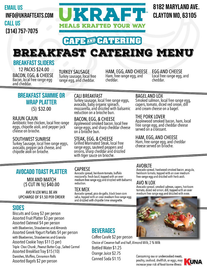 Breakfast catering in clayton, St. Louis