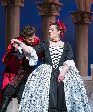 Casanova - Magdalena Hinterdobler mit Adam Sanchez - Oper Leipzig 2018