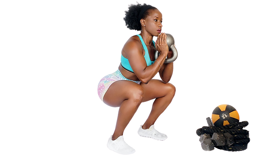 kb goblet squat hold