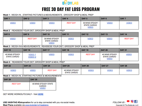 FREE 30 DAY FAT LOSS PROGRAM