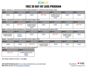 30 Day Calendar
