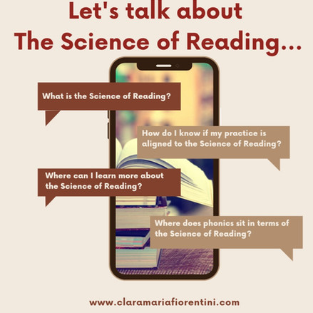 Let's talk about the Science of Reading
