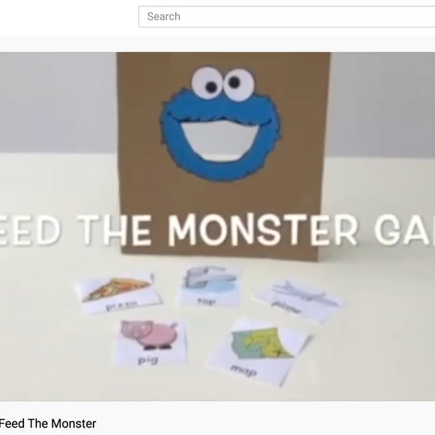 Feed the Monster - phonics game