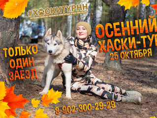 25 октября - Осенний Хаски-тур из Нижнего