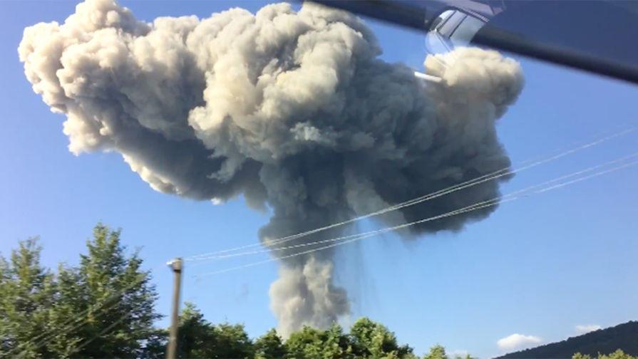 ЧП в Абхазии. Взрыв на складе боеприпасов 2017