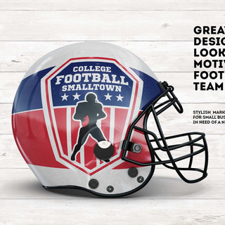 College Football Logo Ad