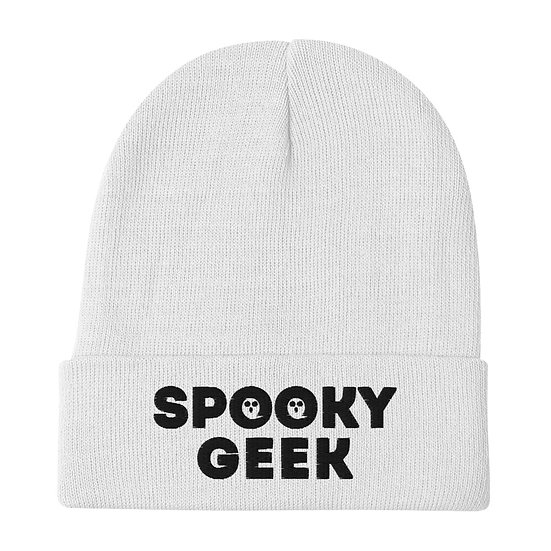 Spooky Geek Embroidered Beanie