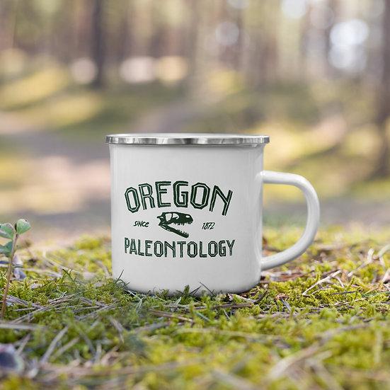 Oregon Paleontology Enamel Mug