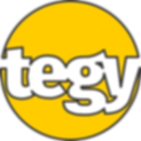 Tegy Logo - Transparent in Yellow Circle