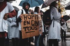 Manifestation unitaire des soignants, pompiers et usagers 14.11.19