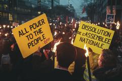 Marche aux flambeaux contre la réforme des retraites 23.01.20