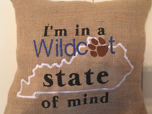 WILDCAT STATE OF MIND PILLOW