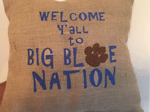 BIG BLUE NATION PILLOW