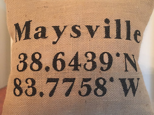 WHERE IS MAYSVILLE PILLOW