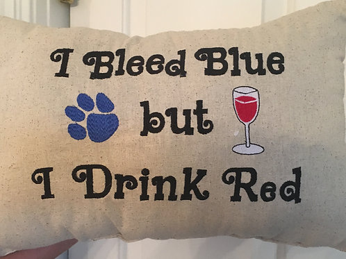 WINE/PAWPRINT PILLOW