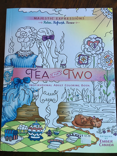 TEA FOR TWO COLORING BOOK