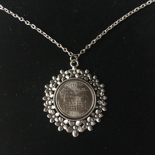 KENTUCKY COIN NECKLACE- DAISY
