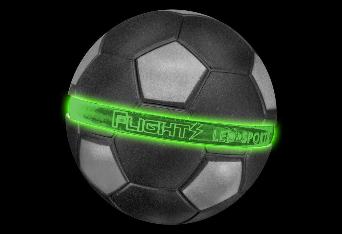 Green Flights Soccer Ball