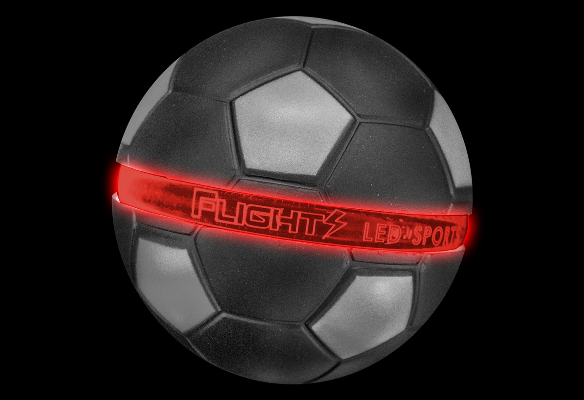Red Flights Soccer Ball