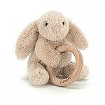 Shooshu Bunny Wooden Ring Toy - Jellycat