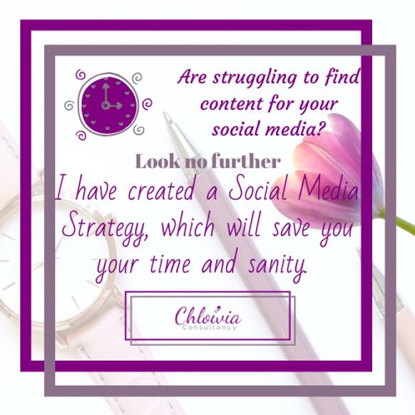 I have created a Social Media Strategy,