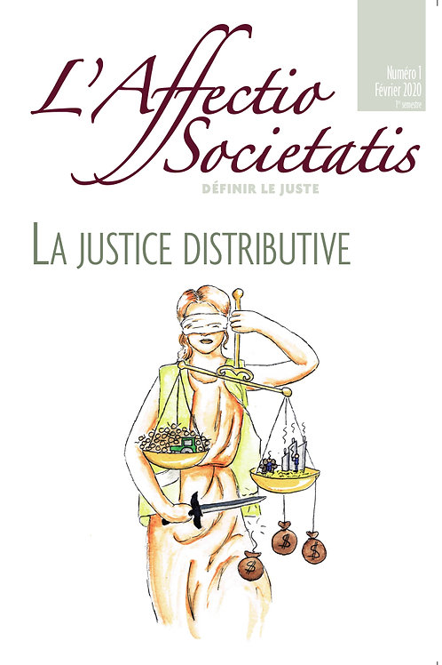 L'Affectio Societatis n°1 : La justice distributive